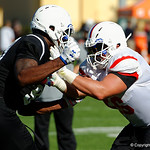 IMG Academy offensive guard Robert Hainsey and some of the nations best high school football players practice and run drills during the first day of practice for the 2016 Under Armour All-America High School Football Game at the ESPN Wide World of Sports in Orlando, Florida  December 38th, 2016. Gator Country photo by David Bowie.