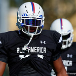 James Clemens High School defensive tackle LaBryan Rayand some of the nations best high school football players practice and run drills during the first day of practice for the 2016 Under Armour All-America High School Football Game at the ESPN Wide World of Sports in Orlando, Florida  December 38th, 2016. Gator Country photo by David Bowie.