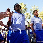 Florida Gators wide receiver Dre Massey as the Gators walk into and across Steve Suprrier Field at  Ben Hill Griffin Stadium during Gator Walk as they prepare for the 2017 Orange and Blue Debut.  November 12th, 2016.  Gator Country photo by David Bowie.