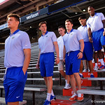 Florida Gators quarterback Feleipe Franks as the Gators walk into and across Steve Suprrier Field at  Ben Hill Griffin Stadium during Gator Walk as they prepare for the 2017 Orange and Blue Debut.  November 12th, 2016.  Gator Country photo by David Bowie.