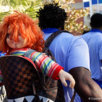 The Chucky doll being carried by Florida Gators wide receiver Antonio Callaway as the Gators walk into and across Steve Suprrier Field at  Ben Hill Griffin Stadium during Gator Walk as they prepare for the 2017 Orange and Blue Debut.  November 12th, 2016.  Gator Country photo by David Bowie.