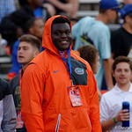 Florida Gator recruits watch on as the Gators conclude their 2017 spring practices with the 2017 Orange and Blue Debut.  April 7th, 2017.  Gator Country photo by David Bowie.