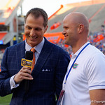 Florida Gator Hall of Famers Danny Wuerffel and Chris Doering as the Gators conclude their 2017 spring practices with the 2017 Orange and Blue Debut.  April 7th, 2017.  Gator Country photo by David Bowie.