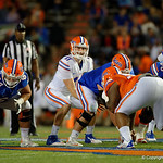 Florida Gators quarterback Kyle Trask under center as the Gators conclude their 2017 spring practices with the 2017 Orange and Blue Debut.  April 7th, 2017.  Gator Country photo by David Bowie.