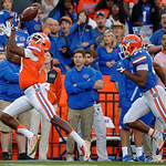 Florida Gators wide receiver Antonio Callaway making a deep ball catch as the Gators conclude their 2017 spring practices with the 2017 Orange and Blue Debut.  April 7th, 2017.  Gator Country photo by David Bowie.
