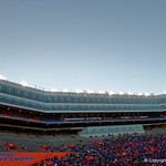 Steve Spurrier Field as the Gators conclude their 2017 spring practices with the 2017 Orange and Blue Debut.  April 7th, 2017.  Gator Country photo by David Bowie.