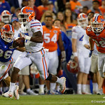 Florida Gators quarterback Kadarius Toney scrambles downfield for a first down as the Gators conclude their 2017 spring practices with the 2017 Orange and Blue Debut.  April 7th, 2017.  Gator Country photo by David Bowie.