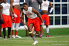 Vanguard receiver Justin Watkins makes plays during the Gators camp