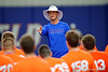 Florida Gators assistant Kevin Barbay speaks to campers