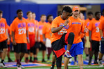 High School football players from Florida and Georgia run drills and compete against each other as the University of Florida Gators get their summer camp circuit underway as they host a 7 on 7 tournament and a offensive line/defensive line camp on Friday night.  June 3rd, 2016. Gator Country photo by David Bowie.