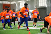 2018 defensive tackle Timaje Porter waits for his turn