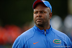Florida Gators running backs coach Tim Skipper watches on as High School football players from Florida and Georgia run drills and compete against each other as the University of Florida Gators get their summer camp circuit underway as they host a 7 on 7 tournament and a offensive line/defensive line camp on Friday night.  June 3rd, 2016. Gator Country photo by David Bowie.