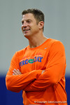 Florida Gators offensive coordinator Doug Nussmeier watches on as High School football players from Florida and Georgia run drills and compete against each other as the University of Florida Gators get their summer camp circuit underway as they host a 7 on 7 tournament and a offensive line/defensive line camp on Friday night.  June 3rd, 2016. Gator Country photo by David Bowie.