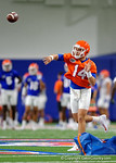 Florida Gators quarterback Luke Del Rio throwing as the Gators run through practice drills finishing up their first week of fall practice.  August 5th, 2016.  Gator Country photo by David Bowie.