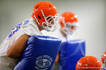 Florida Gators defensive lineman Taven Bryan as the Gators run through practice drills finishing up their first week of fall practice.  August 5th, 2016.  Gator Country photo by David Bowie.