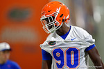 Florida Gators defensive lineman Antonneous Clayton as the Gators run through practice drills finishing up their first week of fall practice.  August 5th, 2016.  Gator Country photo by David Bowie.