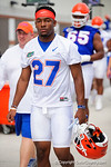 Florida Gators defensive back Quincy Lenton as the Gators march into the Gators indoor practice facility to start fall practice.  August 5th, 2016.  Gator Country photo by David Bowie.