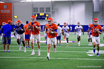 Florida Gators quarterback Luke Del Rio, Florida Gators quarterback Kyle Trask and Florida Gators quarterback Feleipe Franks as the Gators run through practice drills finishing up their first week of fall practice.  August 5th, 2016.  Gator Country photo by David Bowie.
