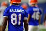 Florida Gators wide receiver Antonio Callaway getting warmed up as the Gators run through practice drills finishing up their first week of fall practice.  August 5th, 2016.  Gator Country photo by David Bowie.