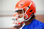 Florida Gators wide receiver Tyrie Cleveland as the Gators march into the Gators indoor practice facility to start fall practice.  August 5th, 2016.  Gator Country photo by David Bowie.