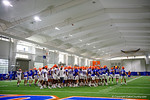 The Florida Gators gather together as the Gators run through practice drills finishing up their first week of fall practice.  August 5th, 2016.  Gator Country photo by David Bowie.