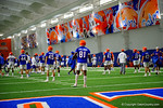 Florida Gators wide receiver Antonio Callaway and the Gators warming up as they run through practice drills finishing up their first week of fall practice.  August 5th, 2016.  Gator Country photo by David Bowie.