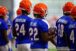 Florida Gators running back Lamical Perine as the Gators run through practice drills finishing up their first week of fall practice.  August 5th, 2016.  Gator Country photo by David Bowie.