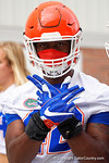 Florida Gators defensive lineman Jordan Smith as the Gators march into the Gators indoor practice facility to start fall practice.  August 5th, 2016.  Gator Country photo by David Bowie.