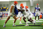 as the Gators run through practice drills finishing up their first week of fall practice.  August 5th, 2016.  Gator Country photo by David Bowie.