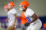 Florida Gators defensive back Marcus Maye drops back into coverage as the Gators run through practice drills finishing up their first week of fall practice.  August 5th, 2016.  Gator Country photo by David Bowie.