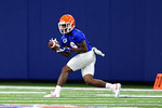 Florida Gators wide receiver Dre Massey with a catch as the Gators run through practice drills finishing up their first week of fall practice.  August 5th, 2016.  Gator Country photo by David Bowie.