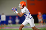 Florida Gators defensive back Jeawon Taylor with a catch as the Gators run through practice drills finishing up their first week of fall practice.  August 5th, 2016.  Gator Country photo by David Bowie.