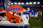 A Florida Gators helmet as the Gators go into Doak Campbell Stadium and lose to the Florida State Seminoles 31-13.  November 26th, 2016.  Gator Country photo by David Bowie.