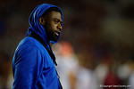 Florida Gators defensive back Marcus Maye during pregame, as the Gators go into Doak Campbell Stadium and lose to the Florida State Seminoles 31-13.  November 26th, 2016.  Gator Country photo by David Bowie.