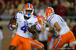 Florida Gators wide receiver Brandon Powell on an end-around during the first half as the Gators go into Doak Campbell Stadium and lose to the Florida State Seminoles 31-13.  November 26th, 2016.  Gator Country photo by David Bowie.