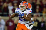 Florida Gators running back Jordan Scarlett rushing as the Gators go into Doak Campbell Stadium and lose to the Florida State Seminoles 31-13.  November 26th, 2016.  Gator Country photo by David Bowie.