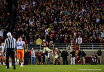 The Florida State Seminole fans celebrate as FSU scores as the Gators go into Doak Campbell Stadium and lose to the Florida State Seminoles 31-13.  November 26th, 2016.  Gator Country photo by David Bowie.