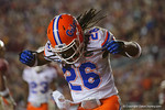 Florida Gators defensive back Marcell Harris as the Gators go into Doak Campbell Stadium and lose to the Florida State Seminoles 31-13.  November 26th, 2016.  Gator Country photo by David Bowie.