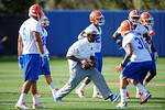 New Florida Gators defensive backs coach Torrian Gray coaching up the DB's as the University of Florida Gators football team continues the first week of 2016 spring practices.  March 11th, 2016. Gator Country photo by David Bowie.
