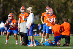 The four new Florida Gators quarterbacks:  Austin Appleby, Kyle Trask, Felipe Franks and Luke Del Rio run drills as the University of Florida Gators football team continues the first week of 2016 spring practices.  March 11th, 2016. Gator Country photo by David Bowie.