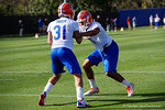 Florida Gators cornerbacks Quincey Wilson and Jalen Tabor as the University of Florida Gators football team continues the first week of 2016 spring practices.  March 11th, 2016. Gator Country photo by David Bowie.