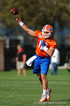 Florida Gators quarterback Austin Appleby throws downfield as the University of Florida Gators football team continues the first week of 2016 spring practices.  March 11th, 2016. Gator Country photo by David Bowie.