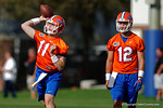 Florida Gators quarterbacks Kyle Trask and Austin Appleby as the University of Florida Gators football team continues the first week of 2016 spring practices.  March 11th, 2016. Gator Country photo by David Bowie.
