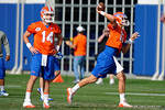 Florida Gators freshman quarterback Felipe Franks(13) as the University of Florida Gators football team continues the first week of 2016 spring practices.  March 11th, 2016. Gator Country photo by David Bowie.