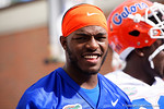 Florida Gators wide receiver C'yontai Lewis flashes a smile to the camera while walking into practice as the University of Florida Gators football team continues the first week of 2016 spring practices.  March 11th, 2016. Gator Country photo by David Bowie.