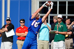 Florida Gators wide receiver C.J. Worton strectches out for a catch as the University of Florida Gators football team continues the first week of 2016 spring practices.  March 11th, 2016. Gator Country photo by David Bowie.