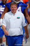 Florida Gators head coach Jim McElwain leads the Gators into practice as the University of Florida Gators football team continues the first week of 2016 spring practices.  March 11th, 2016. Gator Country photo by David Bowie.