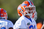 Florida Gators defensive back Jalen Tabor flashes a smile as the University of Florida Gators football team continues the first week of 2016 spring practices.  March 11th, 2016. Gator Country photo by David Bowie.