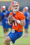 Florida Gators quarterback Kyle Trask throws downfield as the University of Florida Gators football team continues the first week of 2016 spring practices.  March 11th, 2016. Gator Country photo by David Bowie.