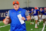 Florida Gators defensive coordinator Geoff Collins and the Florida Gators football team took to the indoor practice facility on Wednesday for another spring practice as the Gators prepare for their annual Orange and Blue Game.  March 30th, 2016.  Gator Country photo by David Bowie.